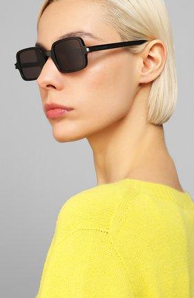 Женские солнцезащитные очки SAINT LAURENT черного цвета, арт. SL 332 001 | Фото 2