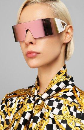 Женские солнцезащитные очки DIOR белого цвета, арт. KALEIDI0RSC0PIC 35J | Фото 2