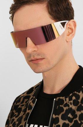 Женские солнцезащитные очки DIOR белого цвета, арт. KALEIDI0RSC0PIC 35J | Фото 3