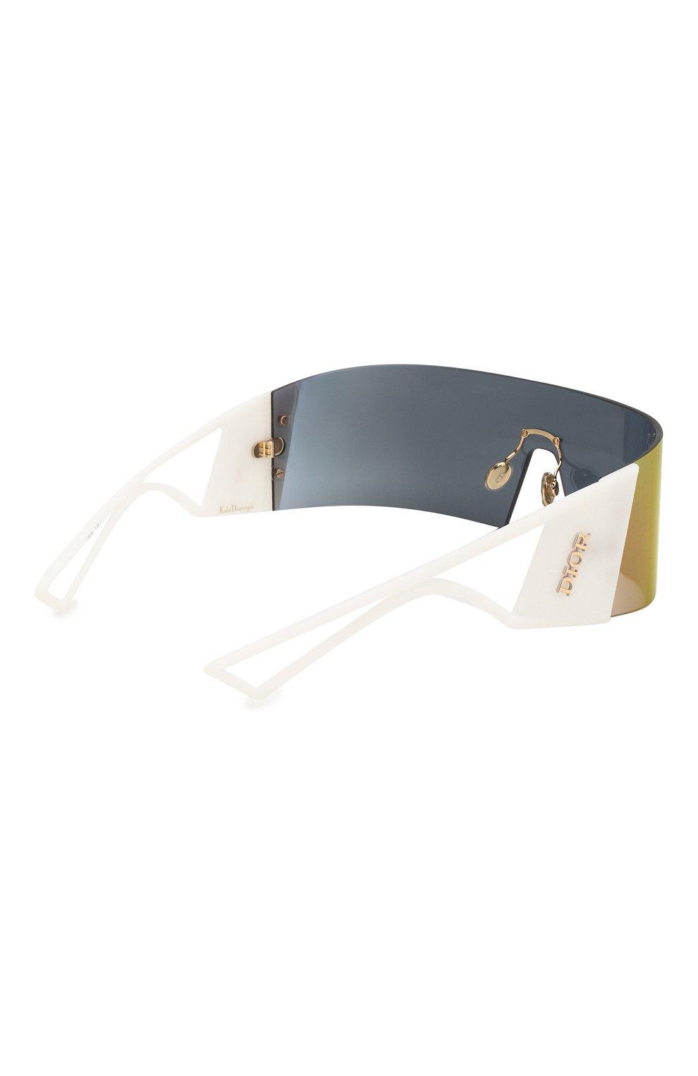 Женские солнцезащитные очки DIOR белого цвета, арт. KALEIDI0RSC0PIC 35J | Фото 5