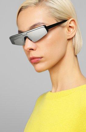 Мужские солнцезащитные очки BALENCIAGA черного цвета, арт. BB0003 005 | Фото 2