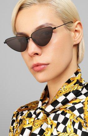 Мужские солнцезащитные очки BALENCIAGA черного цвета, арт. BB0086S 001 | Фото 2