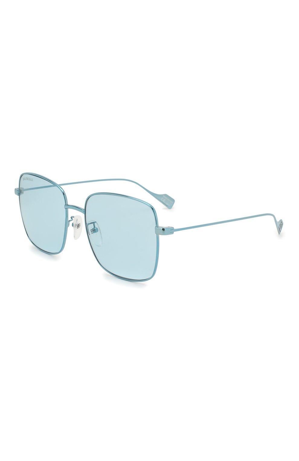 Женские солнцезащитные очки BALENCIAGA голубого цвета, арт. BB0087SK 003 | Фото 1