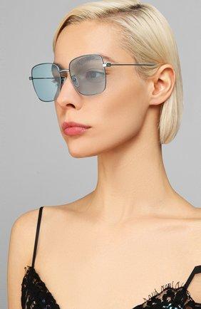 Женские солнцезащитные очки BALENCIAGA голубого цвета, арт. BB0087SK 003 | Фото 2