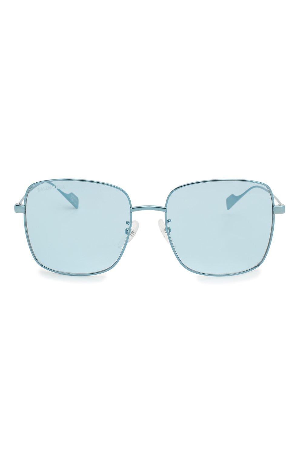 Женские солнцезащитные очки BALENCIAGA голубого цвета, арт. BB0087SK 003 | Фото 3