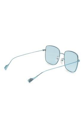 Женские солнцезащитные очки BALENCIAGA голубого цвета, арт. BB0087SK 003 | Фото 4