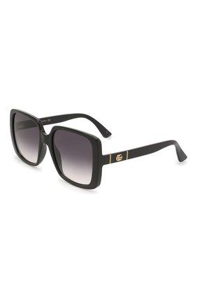 Женские солнцезащитные очки GUCCI черного цвета, арт. GG0632S 001   Фото 1