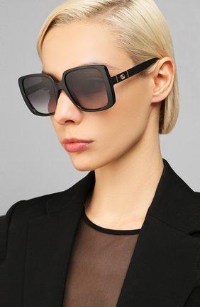 Женские солнцезащитные очки GUCCI черного цвета, арт. GG0632S 001   Фото 2