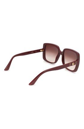 Женские солнцезащитные очки GUCCI бордового цвета, арт. GG0632S 003   Фото 4