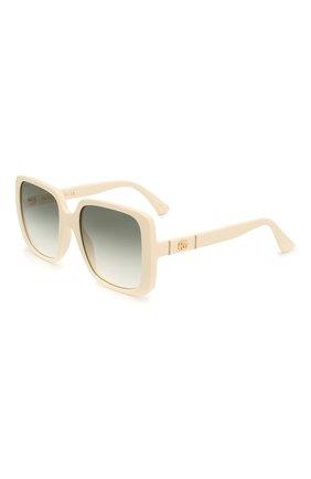 Женские солнцезащитные очки GUCCI белого цвета, арт. GG0632S 004 | Фото 1