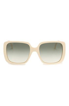 Женские солнцезащитные очки GUCCI белого цвета, арт. GG0632S 004 | Фото 3
