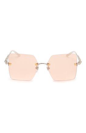 Женские солнцезащитные очки GUCCI розового цвета, арт. GG0644S 003 | Фото 3