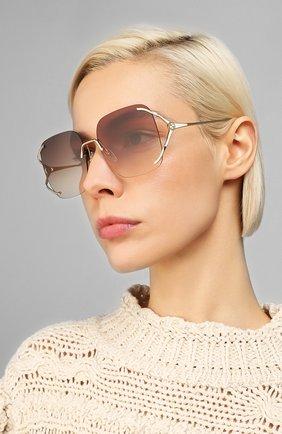 Мужские солнцезащитные очки GUCCI коричневого цвета, арт. GG0646S 002 | Фото 2