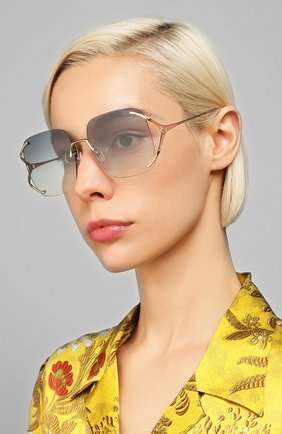 Мужские солнцезащитные очки GUCCI синего цвета, арт. GG0646S 004 | Фото 2