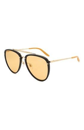 Мужские солнцезащитные очки GUCCI оранжевого цвета, арт. GG0672S 002   Фото 1