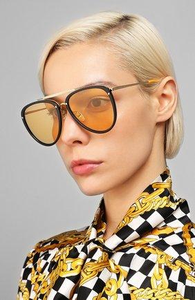 Мужские солнцезащитные очки GUCCI оранжевого цвета, арт. GG0672S 002   Фото 2