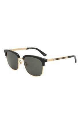 Женские солнцезащитные очки GUCCI черного цвета, арт. GG0697S 001 | Фото 1