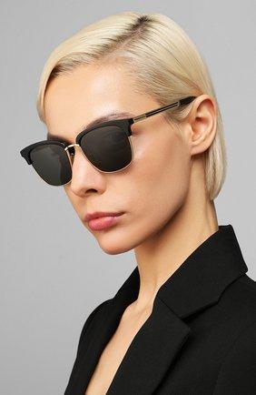Женские солнцезащитные очки GUCCI черного цвета, арт. GG0697S 001 | Фото 2
