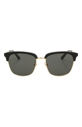 Женские солнцезащитные очки GUCCI черного цвета, арт. GG0697S 001 | Фото 4