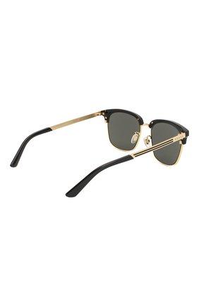 Женские солнцезащитные очки GUCCI черного цвета, арт. GG0697S 001 | Фото 5