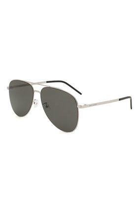 Женские солнцезащитные очки SAINT LAURENT черного цвета, арт. CLASSIC 11 SLIM 001 | Фото 1