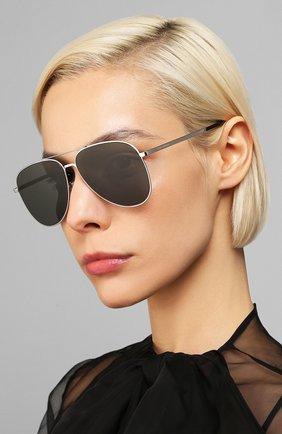 Женские солнцезащитные очки SAINT LAURENT черного цвета, арт. CLASSIC 11 SLIM 001 | Фото 2