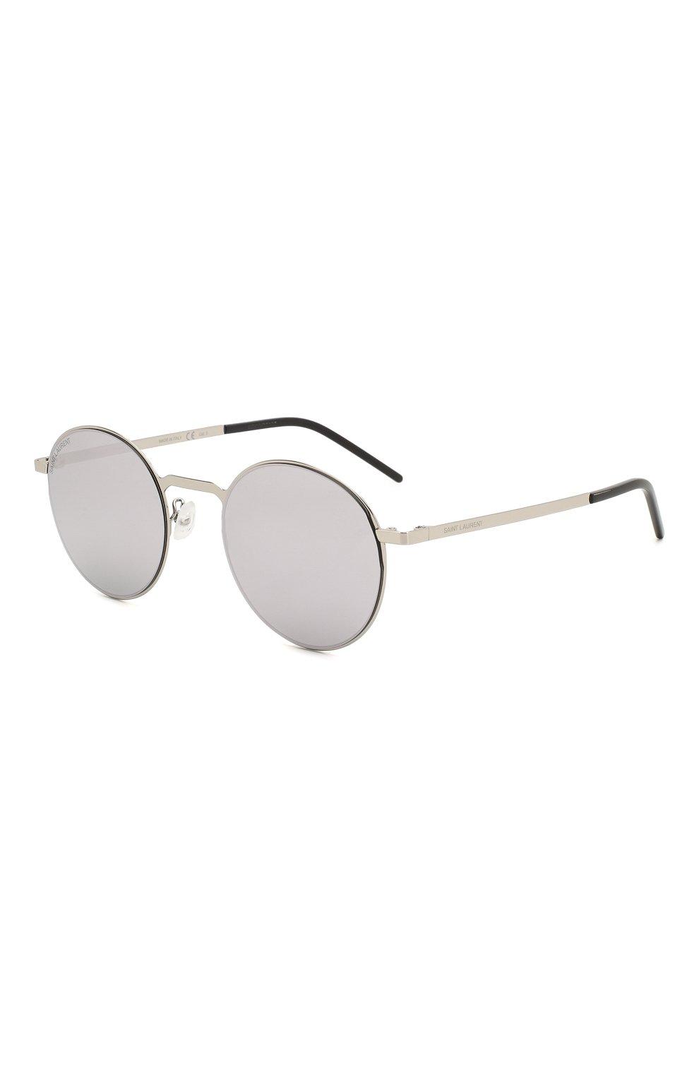 Женские солнцезащитные очки SAINT LAURENT лилового цвета, арт. SL 250 SLIM 007 51 | Фото 1