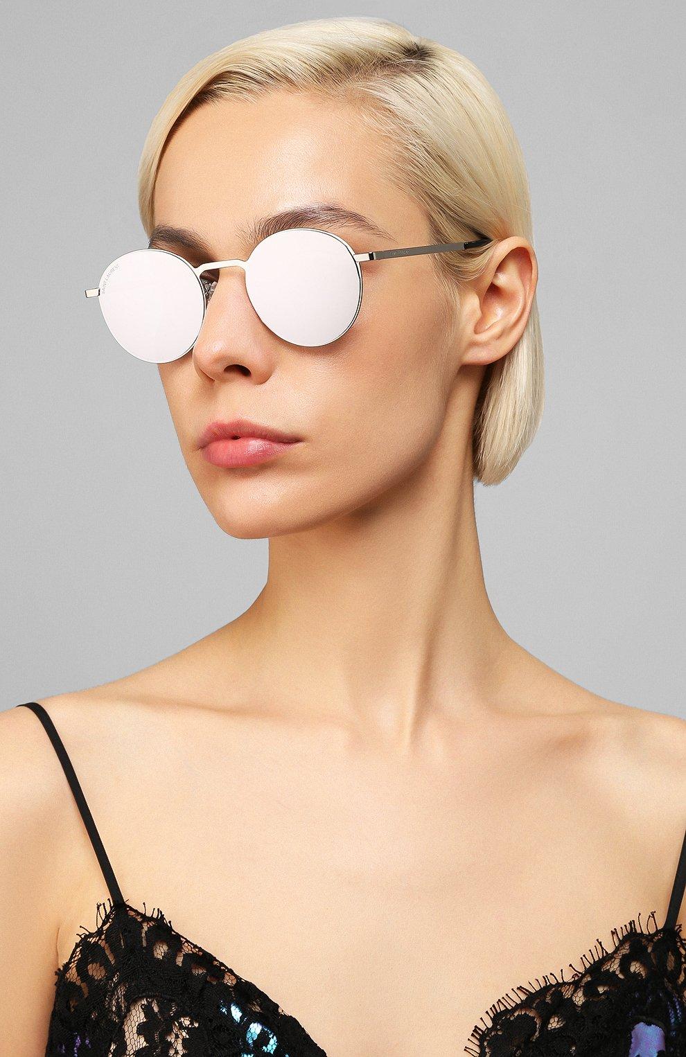 Женские солнцезащитные очки SAINT LAURENT лилового цвета, арт. SL 250 SLIM 007 51 | Фото 2