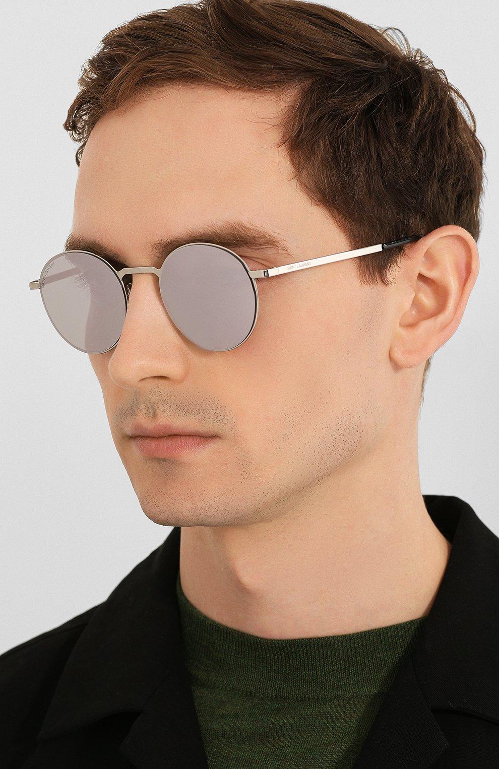 Женские солнцезащитные очки SAINT LAURENT лилового цвета, арт. SL 250 SLIM 007 51 | Фото 3