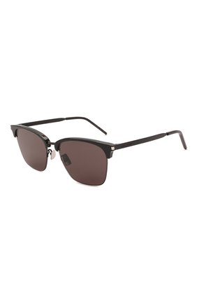 Женские солнцезащитные очки SAINT LAURENT черного цвета, арт. SL 340 001 | Фото 1