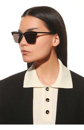 Женские солнцезащитные очки SAINT LAURENT черного цвета, арт. SL 340 001 | Фото 2