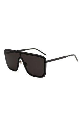 Мужские солнцезащитные очки SAINT LAURENT черного цвета, арт. SL 364 002 | Фото 1