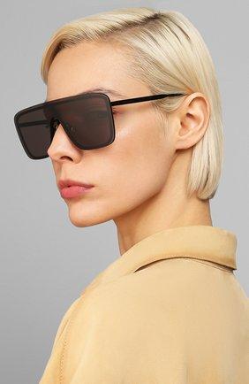 Мужские солнцезащитные очки SAINT LAURENT черного цвета, арт. SL 364 002 | Фото 2