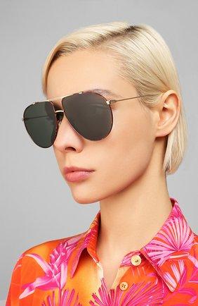 Женские солнцезащитные очки DIOR черного цвета, арт. DI0RM0NSIEUR1 2IK | Фото 2