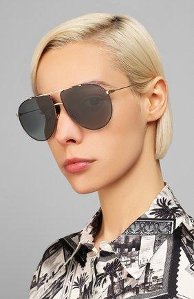 Женские солнцезащитные очки DIOR черного цвета, арт. DI0RM0NSIEUR1 XWY | Фото 2