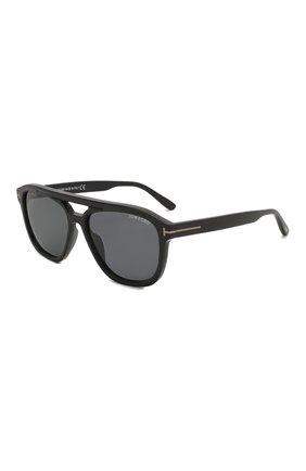 Мужские солнцезащитные очки TOM FORD черного цвета, арт. TF776-N 01A   Фото 1