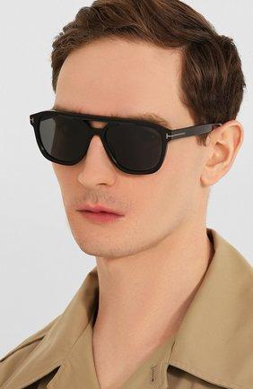 Мужские солнцезащитные очки TOM FORD черного цвета, арт. TF776-N 01A   Фото 2