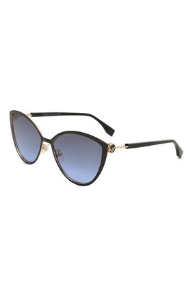 Женские солнцезащитные очки FENDI черного цвета, арт. 0413 2M2   Фото 1