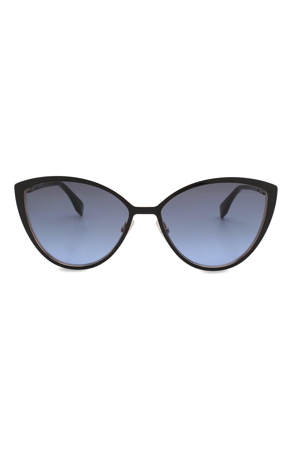 Женские солнцезащитные очки FENDI черного цвета, арт. 0413 2M2   Фото 3