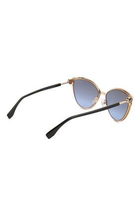 Женские солнцезащитные очки FENDI черного цвета, арт. 0413 2M2   Фото 4