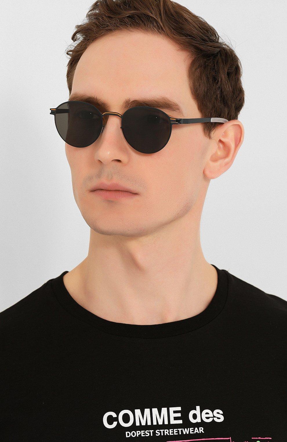 Женские солнцезащитные очки MYKITA черного цвета, арт. CARL0/INDIG0/0RANGE   Фото 3
