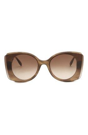 Женские солнцезащитные очки ALEXANDER MCQUEEN коричневого цвета, арт. AM0250S 004 | Фото 3
