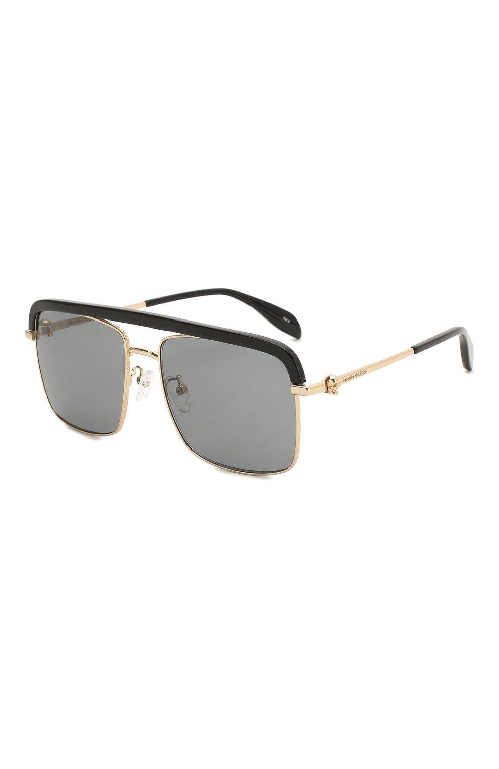 Женские солнцезащитные очки ALEXANDER MCQUEEN черного цвета, арт. AM0258S 001   Фото 1