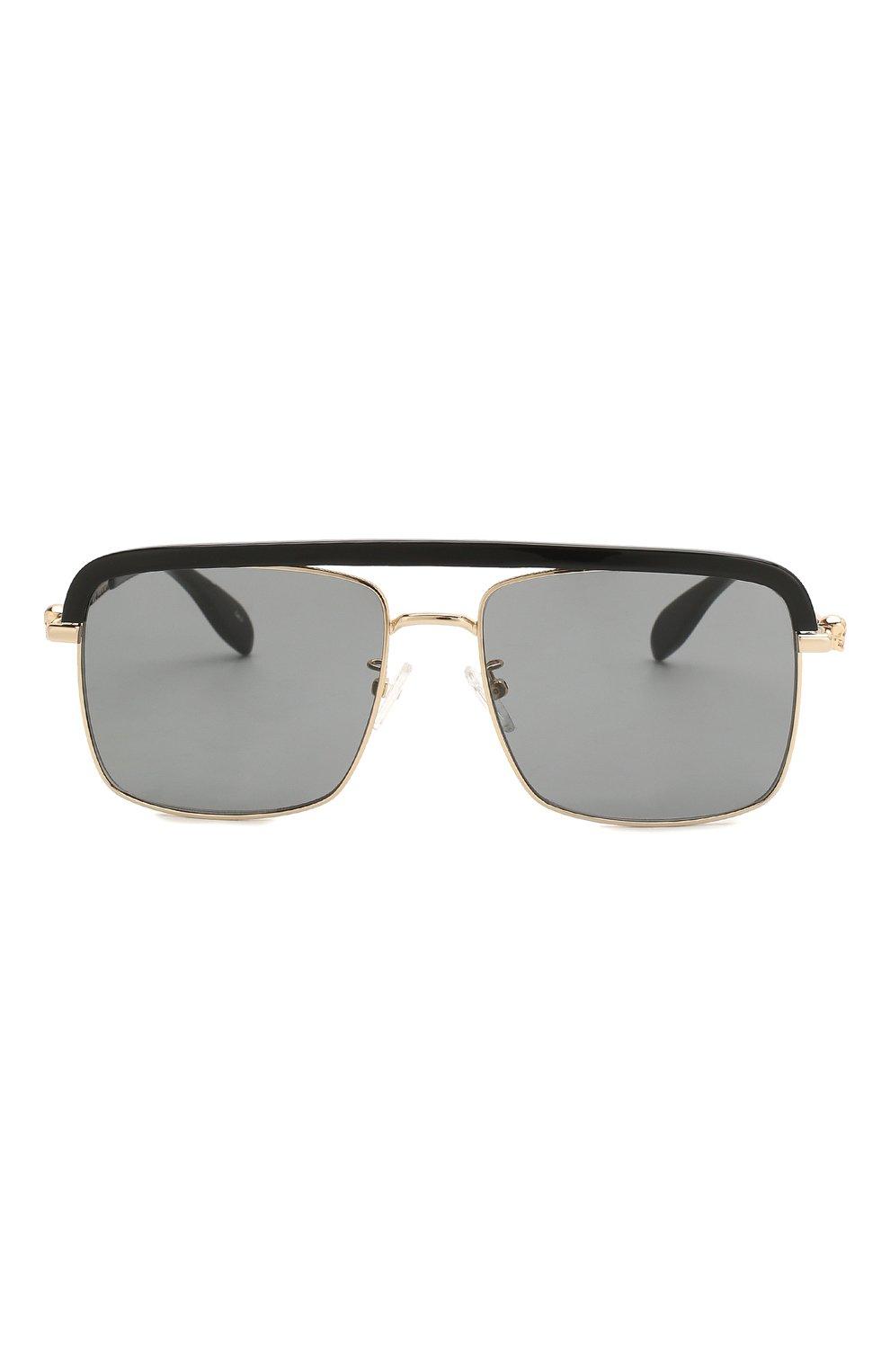 Женские солнцезащитные очки ALEXANDER MCQUEEN черного цвета, арт. AM0258S 001   Фото 4
