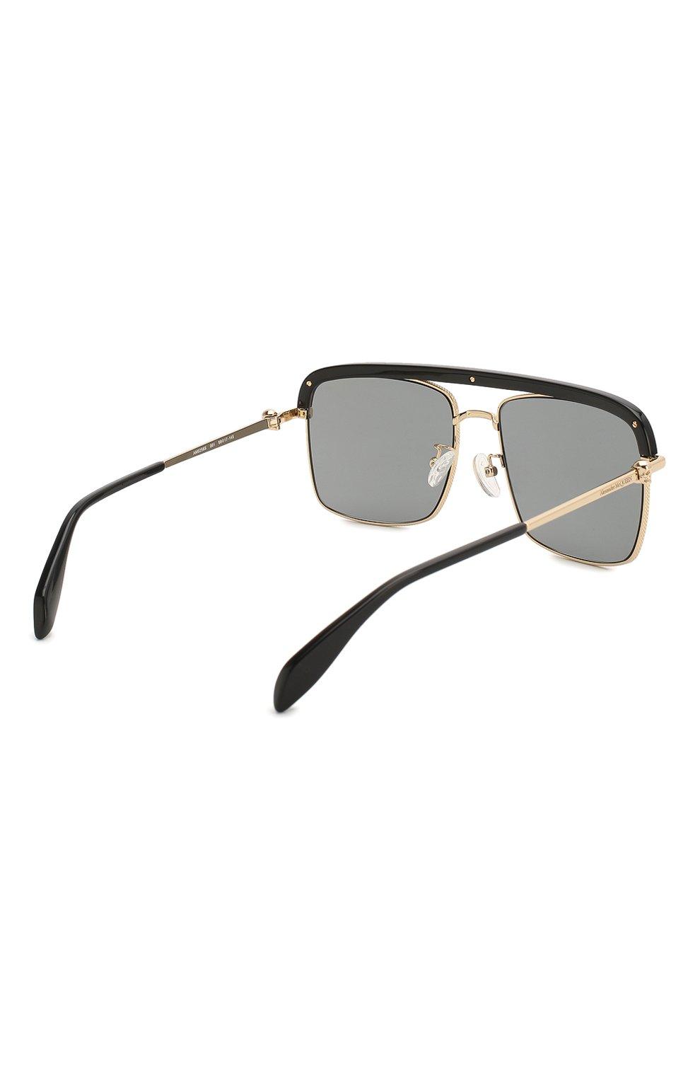 Женские солнцезащитные очки ALEXANDER MCQUEEN черного цвета, арт. AM0258S 001   Фото 5