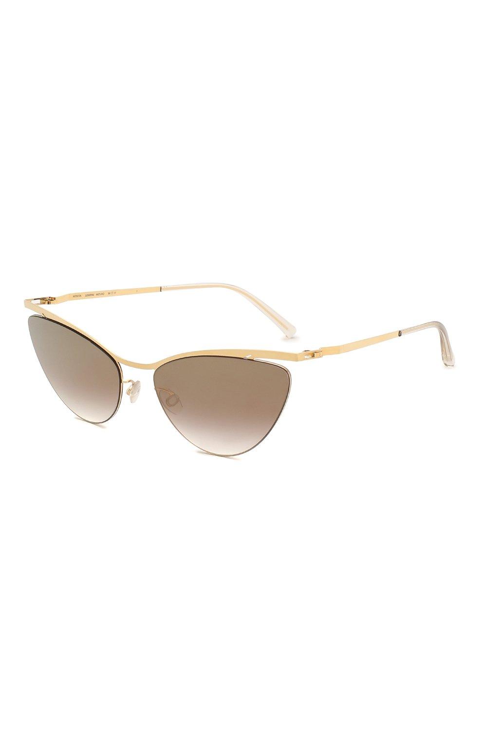 Женские солнцезащитные очки MYKITA золотого цвета, арт. MIZUH0/GL0SSYG0LD | Фото 1
