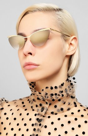 Женские солнцезащитные очки MYKITA золотого цвета, арт. MIZUH0/GL0SSYG0LD | Фото 2