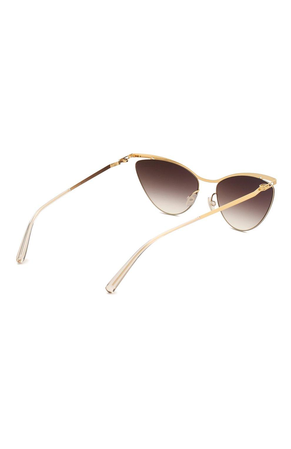 Женские солнцезащитные очки MYKITA золотого цвета, арт. MIZUH0/GL0SSYG0LD | Фото 4