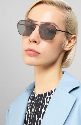 Мужские солнцезащитные очки MAISON MARGIELA черного цвета, арт. MMCRAFT 006/BLACK | Фото 2