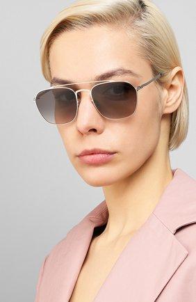 Мужские солнцезащитные очки MAISON MARGIELA серого цвета, арт. MMCRAFT 006/SHINYSILVER | Фото 2